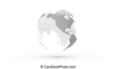 abstratos, cinzento, globo, terra planeta