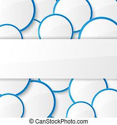 abstratos, circles., fundo