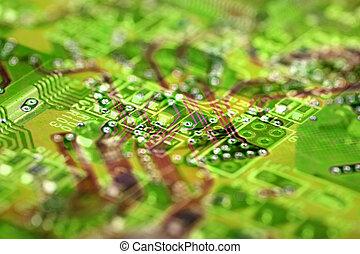 abstratos, circuito eletrônico, fundo