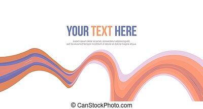 abstratos, cobrança, onda, cabeçalho, desenho, fundo