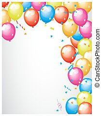 abstratos, colorido, balões, borda