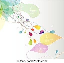 abstratos, colorido, ilustração, com, pétalas flor, e, lugar, para, seu, text.