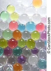 abstratos, coloridos, bolas, fundo