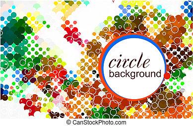 abstratos, coloridos, círculo, fundo