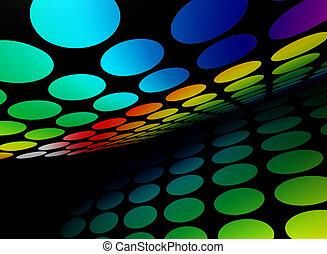 abstratos, coloridos