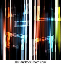 abstratos, coloridos, experiência listrada