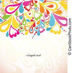 abstratos, coloridos, experiência., vetorial, ilustração