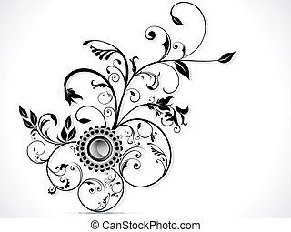 abstratos, coloridos, floral