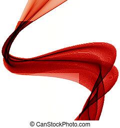 abstratos, coloridos, fundo, com, vermelho, fumaça, onda