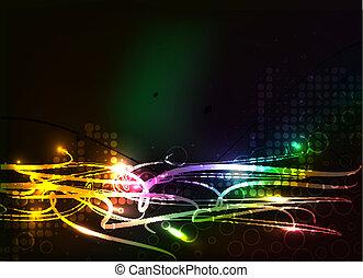 abstratos, coloridos, fundo, onda