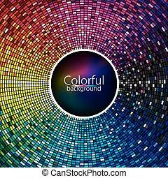 abstratos, coloridos, fundo, ondas