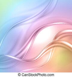 abstratos, coloridos, onda, experiência.