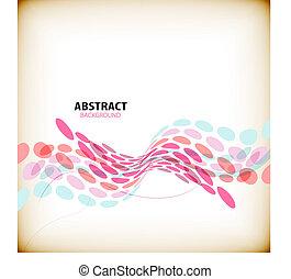abstratos, coloridos, onda, formas, fundo
