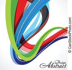 abstratos, coloridos, onda, fundo