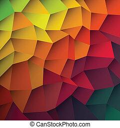 abstratos, coloridos, remendos, experiência., vetorial, eps10