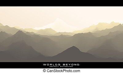 abstratos, coloridos, slopes., nebuloso, sobre, vetorial, ...