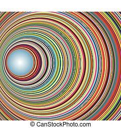 abstratos, coloridos, túnel, com, círculos