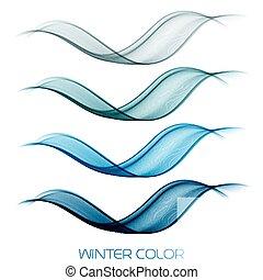 abstratos, coloridos, transparente, cobrança, onda