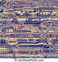 abstratos, coloridos, vindima, experiência., com, diferente, cor, patterns:, amarela, (beige);, gray;, roxo, (violet);, azul