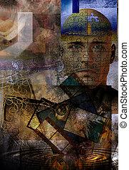 abstratos, com, human