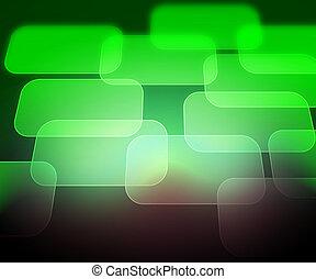 abstratos, computador, experiência verde