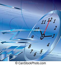 abstratos, conceito, fundo, tempo,  digital, relógio