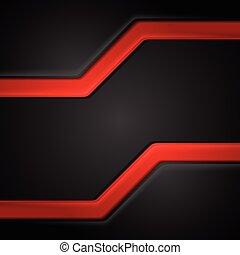 abstratos, contraste, preto vermelho, tech, fundo