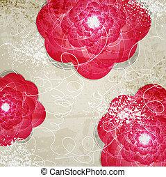 abstratos, convite, vindima, floral, experiência.