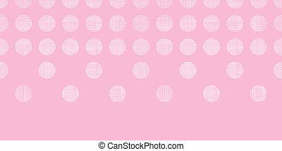 abstratos, cor-de-rosa, têxtil, pontos, horizontais, seamless, padrão, fundo