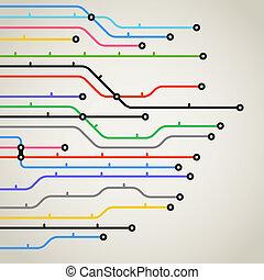 abstratos, cor, metro, esquema