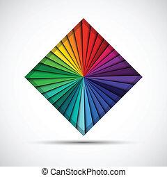 abstratos, cor, quadrado, isolado, branco, fundo