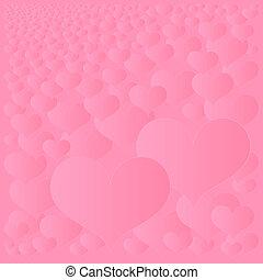 abstratos, corações, fundo