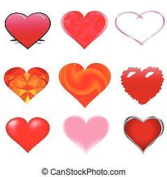 abstratos, corações
