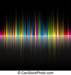 abstratos, cores arco-íris, experiência preta