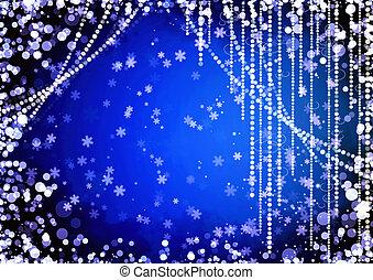 abstratos, cortinas, de, feriado, guirlanda