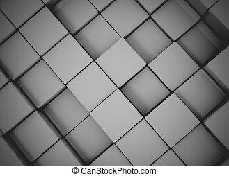 abstratos, cubo, fundo