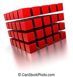 abstratos, cubos, 3d