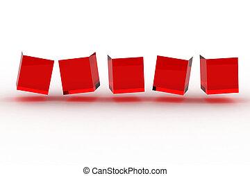 abstratos, cubos, fila