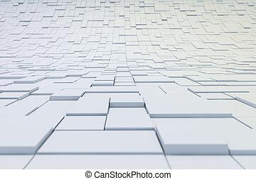 abstratos, cubos, fundo, 3d