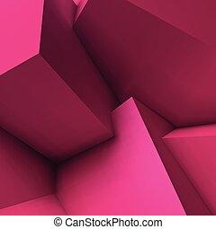 abstratos, cubos, fundo, sobrepondo, geomã©´ricas