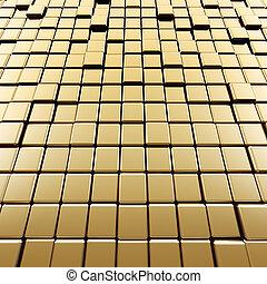 abstratos, cubos, ouro