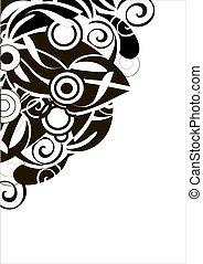 abstratos, curva, fundo, para, desig