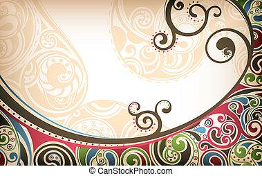 abstratos, curva, fundo