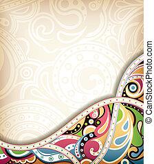abstratos, curva, retro