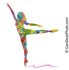 abstratos, dançarino