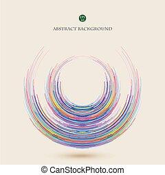 abstratos, de, coloridos, geomã©´ricas, linhas, em, cercle, experiência.