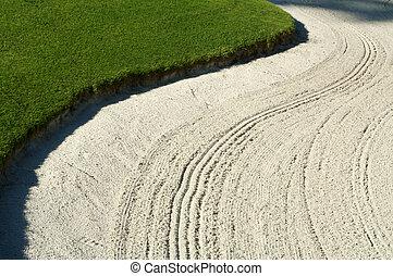 abstratos, de, golfe, bunker