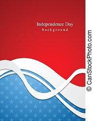 abstratos, dia, fundo, independência
