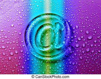 abstratos, e-mail, ligado, líquido, bolhas, para, site web