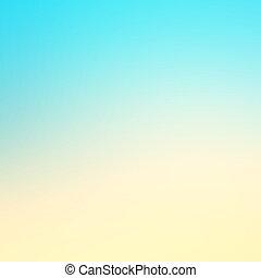 abstratos, efeito azul, fundo, com, verão, praia, disposição
